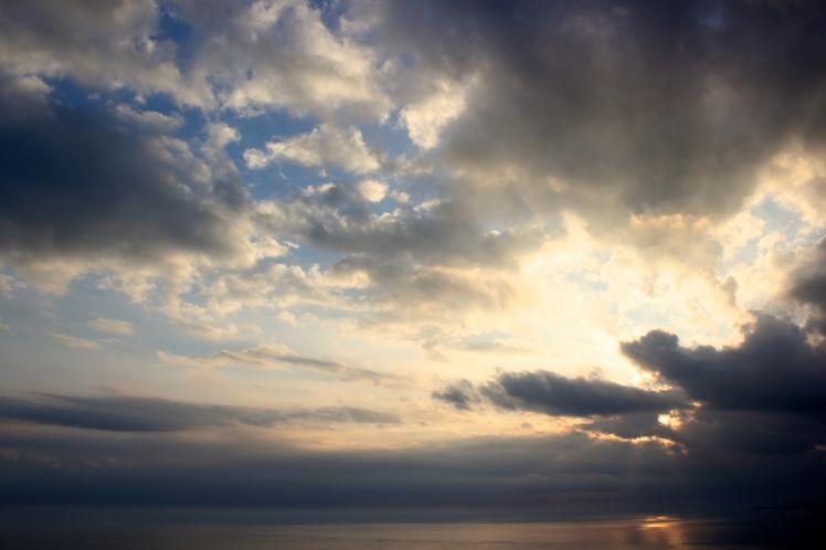 no sunset, good clouds
